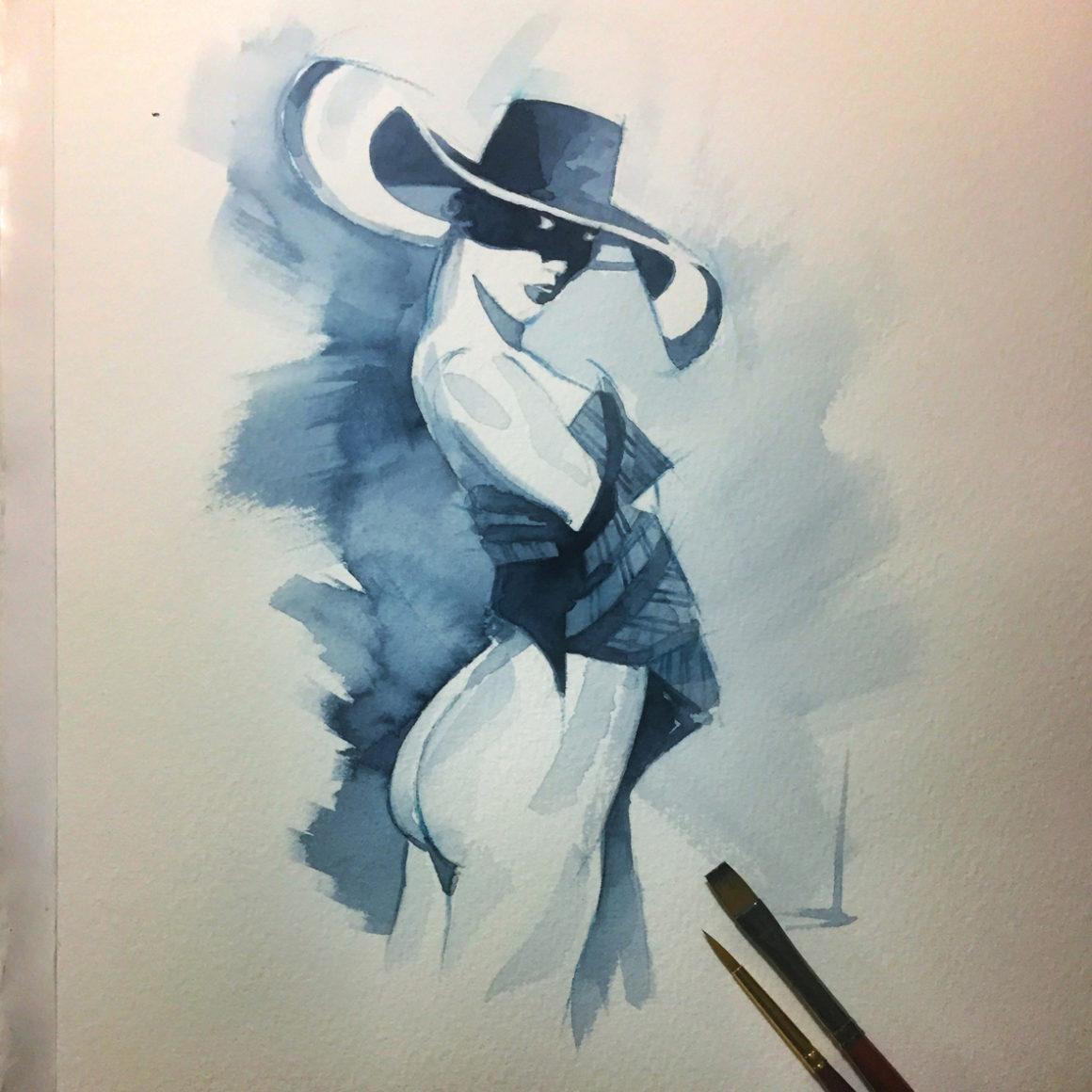 004 Hat Vito Lentini Designer Acquarelli Sketches