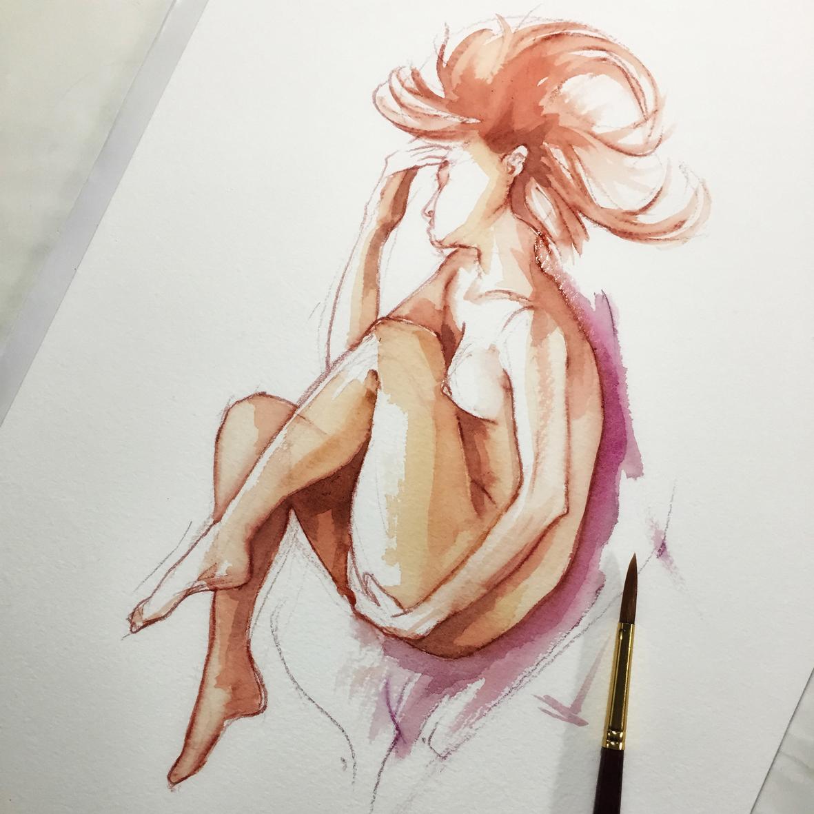 009 Radmila2 Vito Lentini Designer Acquarelli Sketches