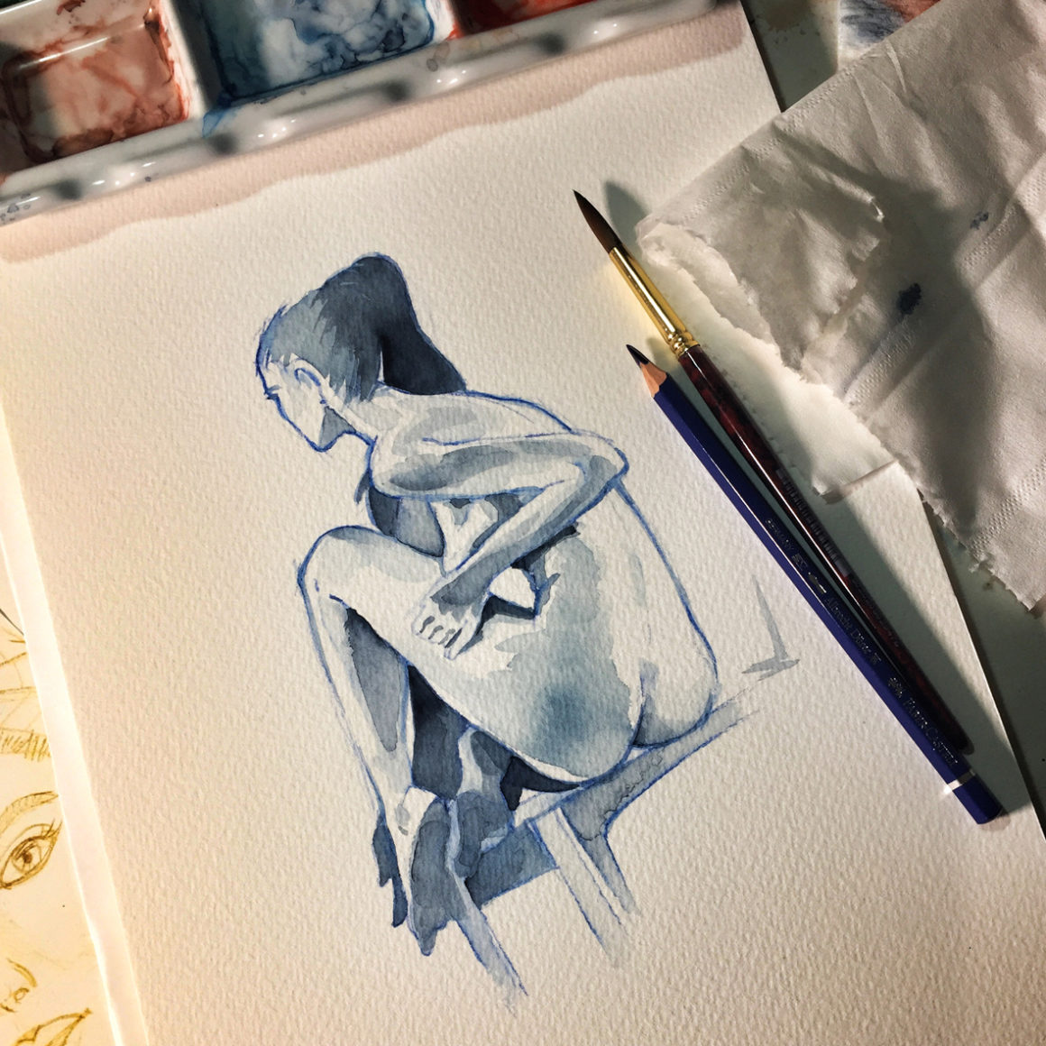 014 Vicktoriia Vito Lentini Designer Acquarelli Sketches