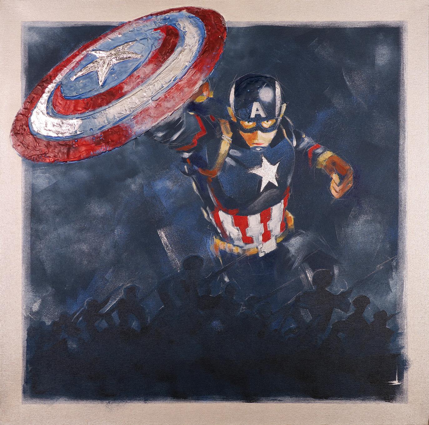 SH_Captain_America_60x60_Acrylic_On_Canvas