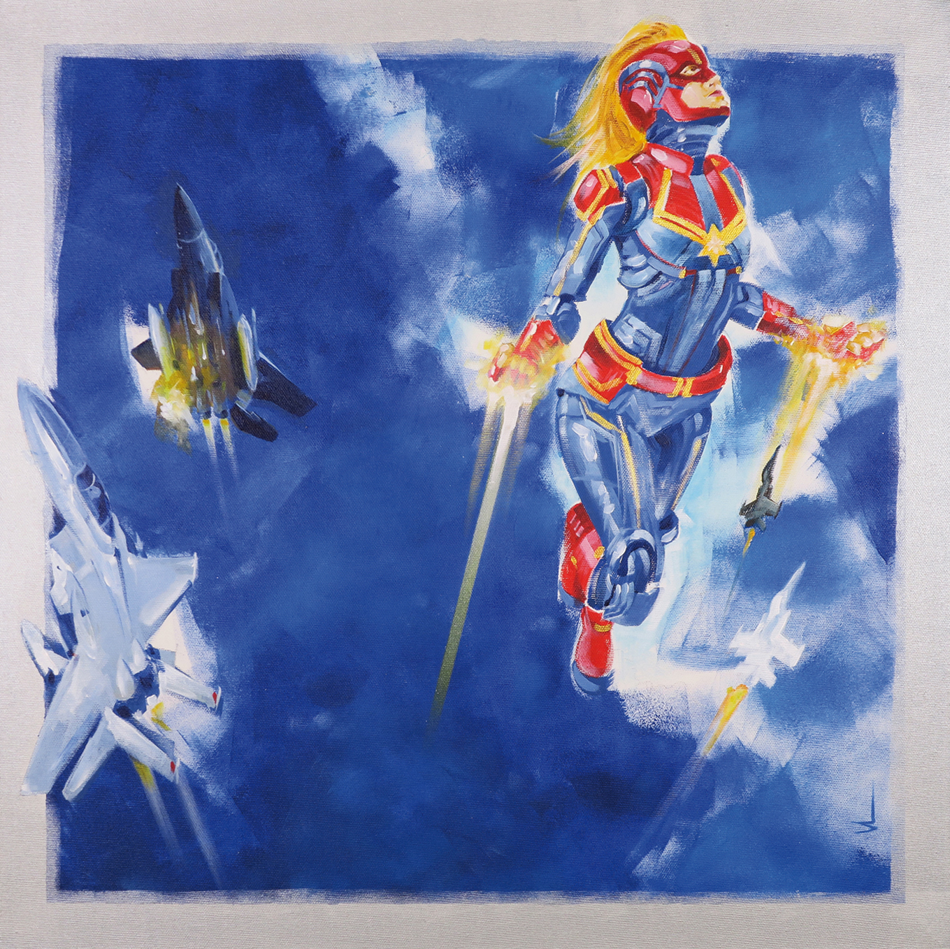 SH_Captain_Marvel_60x60_Acrylic_On_Canvas